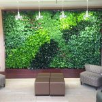 living green wall in lobby